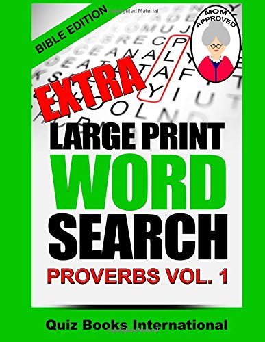 Extra Large Print Search Proverbs product image