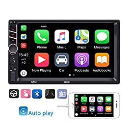Double Din Car Stereo in-Dash Car Radio with Bluetooth 7 Inch HD Touchscreen Auto Radio Support D-Play Mirror Link for… 1