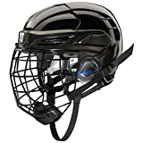 COVERT PX2HC6BKL Warrior Ice Hockey Players Helmet with Cage, Black, Large