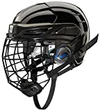 WARRIOR PX2HC6 Ice Hockey Players Helmet with Cage, Black, Large
