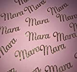 Personalized Custom Name Confetti cursive font table scatter