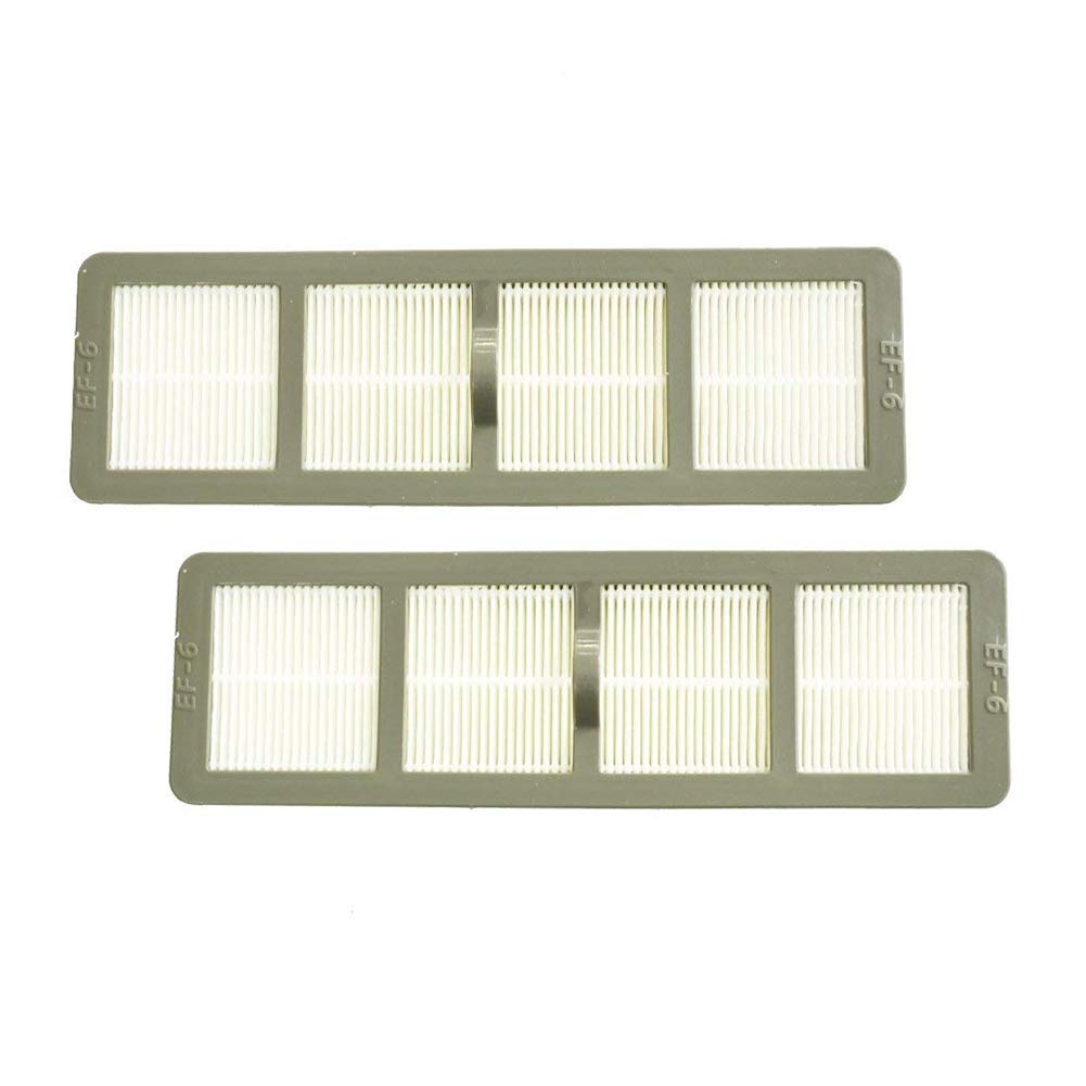 EZ SPARES 2PCS Eureka Airspeed EF6 (EF-6) HEPA Style Replacement Filters AirSpeed, Compatible Part # 830911 & 69963 to fit Eureka Airspeed AS1000 Upright Vacuums