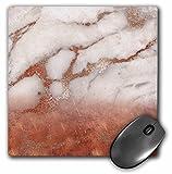 copper gems - 3dRose Uta Naumann Faux Glitter Pattern - Luxury Grey Copper Ombre Gem Stone Marble Glitter Metallic Faux Print - MousePad (mp_268839_1)