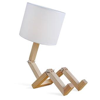 Cdet Decoration Lampe De Chevet Lampe De Table Lampe En Bois Massif