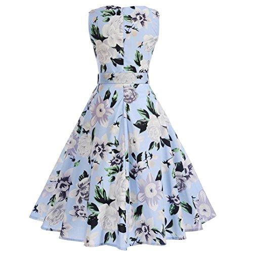 Hepburn Classy Cuello Swing Vestido Cóctel Up Vestido Vintage Redondo De Las Blanco Rockabilly 1950s Pin Fiesta Mujeres de Lenfesh fgXnOaq