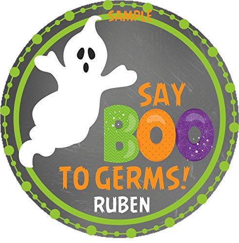 Halloween Say Boo To Germs Sticker Labels