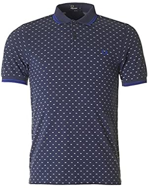 Slim Fit Men's Polo TWIN TIPPED PRINT SHIRT