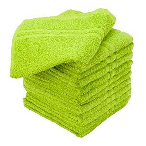 Beauty Threadz 100% Cotton Salon Towels Gym Towels Hand Towel (16 x 27 in. 3.00 Lbs) Ringspun-Cotton, Maximum Softness, Absorbency & Durability, Lime green, 12 Piece