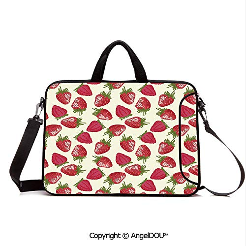 (AngelDOU Neoprene Printed Fashion Laptop Bag Strawberries Vivid Growth Plant Vitamin Organic Diet Refreshing Image Decorative Notebook Tablet Sleeve Cases Compatible with Lenovo Asus Acer HP Eggshe)