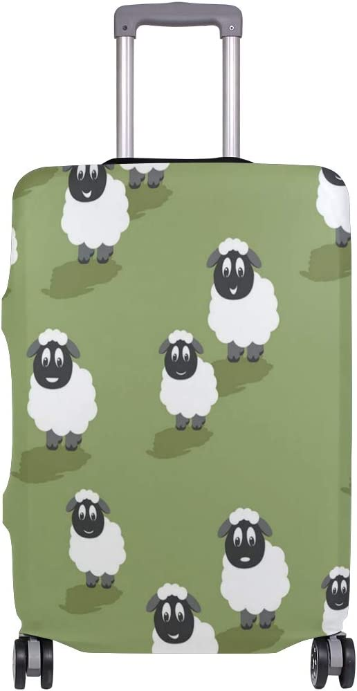 Bleating Sheep Yogurt Traveler Lightweight Rotating Luggage Cover Can Carry With You Can Expand Travel Bag Trolley Rolling Luggage Cover