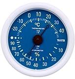 タニタ アナログ温湿度計 掛けタイプ/フック穴付 ブルー TT-515-BL