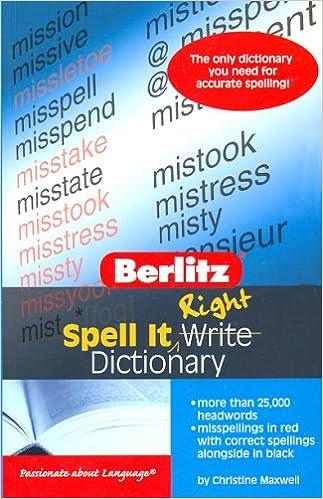 Amazon com: Spell It Right Dictionary (9789812469816