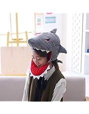 NUOLUX Cartoon Plush Shark Hat - Novelty Animal Head Costume, Halloween Supplies