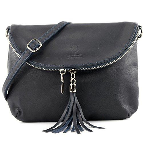 Dark Small Bag nappa Clutch Ital Shoulder Underarm Bag leather Bag Blue Shoulder Girl Bag T07 Leather Avvxw6g