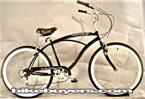 "Micargi Pantera 7-speed 26"" for men , Beach Cruiser Bike Sch"