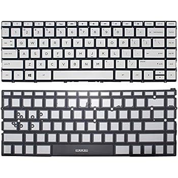 Laptop US Backlit Keyboard Compatible with HP PN 809032-001 832805-001 9Z.NC8LN.201 NSK-CW2BQ 01,Without Palmrest