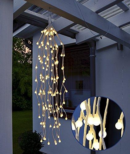Lichterzweige hängend 144 LEDs Timer Weihnachtsdeko Außenbeleuchtung Deko 76152