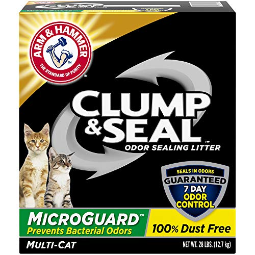 Arm & Hammer Clump & Seal MicroGuard Cat Litter, 28lb (Arm And Hammer Clump And Seal 28 Lbs)