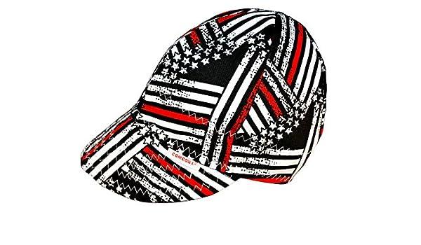 Comeaux Caps - Gorro de soldar reversible, diseño de bandera de ...