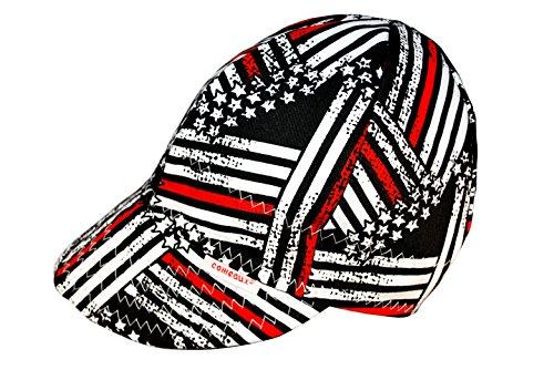 Comeaux Caps Reversible Welding Cap Fireman Flag Size 7 3/4