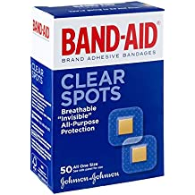 BAND-AID Bandages Clear Spots 50 Each (Pack of 6)