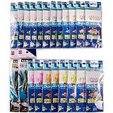 Assorted 22 Packs Freshwater/saltwater Fishing Sabiki Bait Rigs Fish Skin/feather Hooks