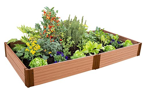 Frame It All One Inch Series 4ft. x 8ft. x 11in. Composite Raised Garden Bed Kit