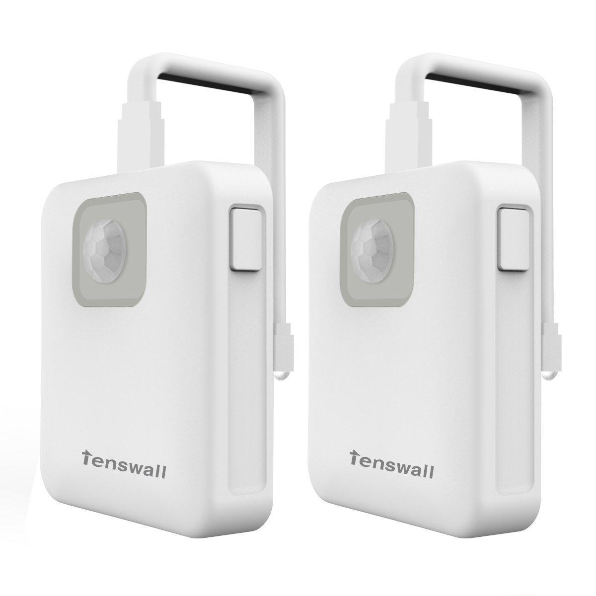 Tenswall Toilet Seat Illuminating Night LEDライト – Motion ActivatedバスルームボウルNightlight – 8異なる色変更 – ライトSensitive動きセンサー – 簡単にインストール電池式2パック B01N1WQ54C 29408