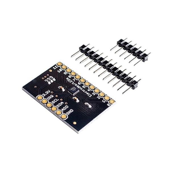 CAOLATOR MPR121 Breakoutv12 Sensores de Proximidad Capacitivos Módulo Sensor de Contacto-Controlador I2C Teclado,PCB 30mm*20mm: Amazon.es: Electrónica