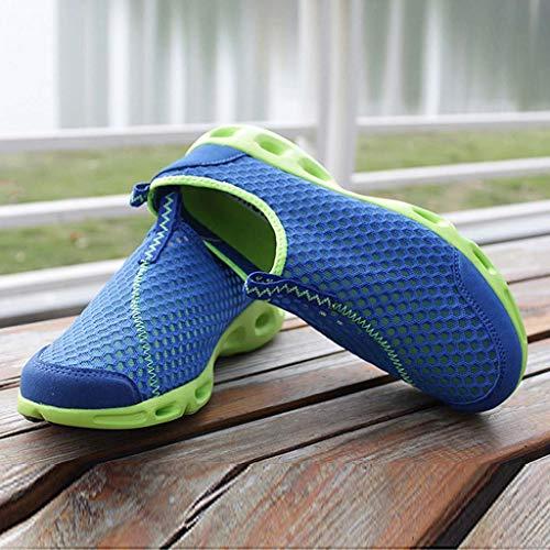 Antiscivolo Sportive Running Donna In Mesh Spiaggia Blu Casual Da Scarpe Sneaker Traspiranti aqZxggCF