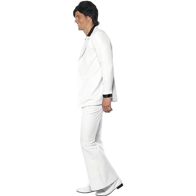 Traje de Fiebre del sábado noche de los años 70-80 disfraz John Travolta vestuario disco: Amazon.es: Juguetes y juegos