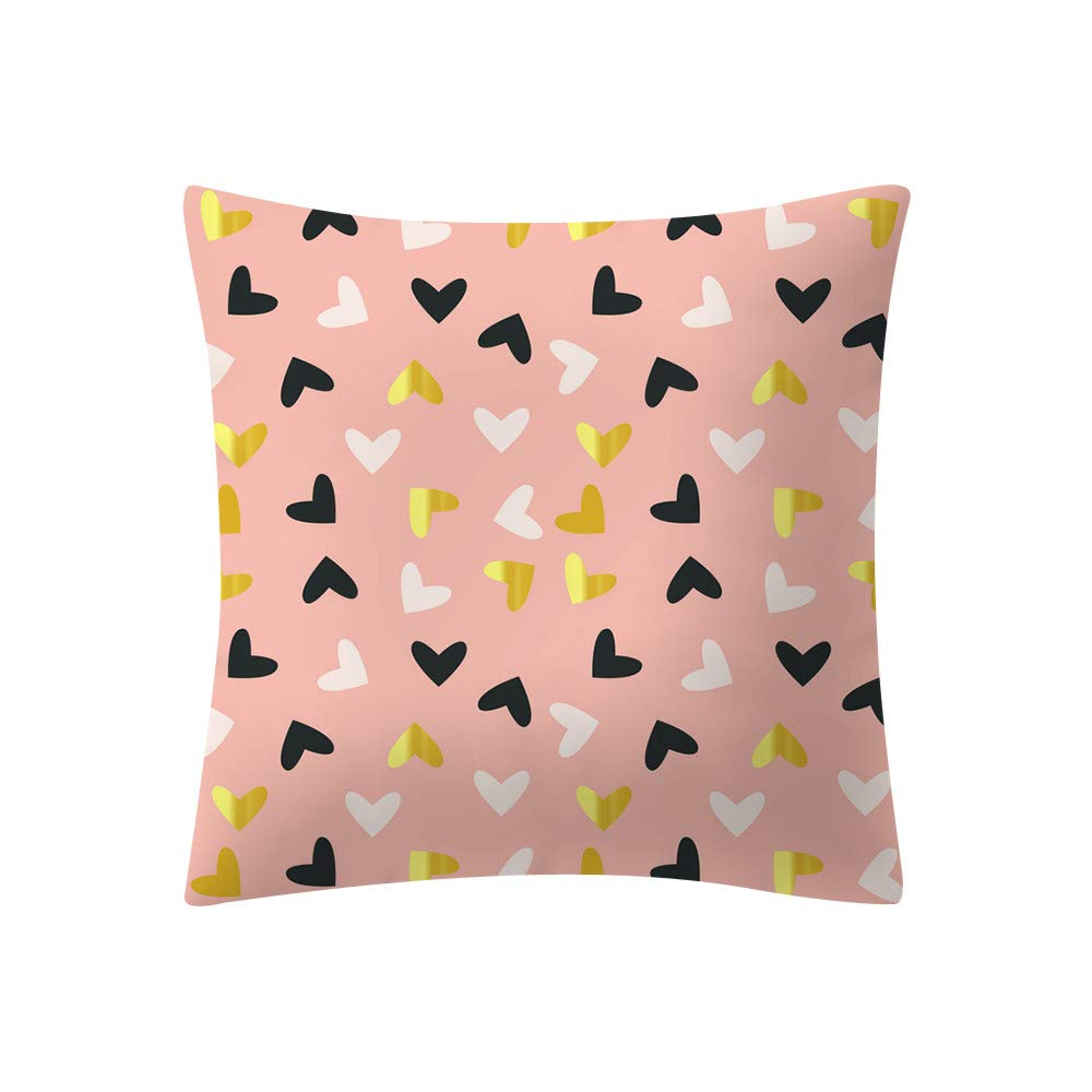 Simple Pillowcase Rose Gold Pink Bedding Cover Square Home Decoration Furniture Accesory BANAA Colorful Cushion Cover