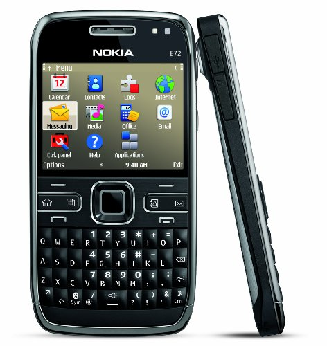 Nokia E72 Unlocked Phone Featuring GPS with Voice Navigation - U.S. Version with Full Warranty (Zodium Black)