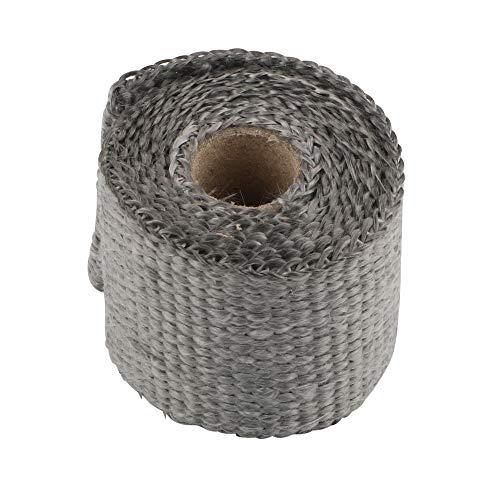 NOPNOG – Motorfiets uitlaatspruitstuk tape, isolatietape, anti-hot, glasvezel, 50 mm x 1,5 m (grijs)