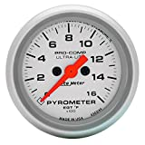 "Auto Meter 4444 Ultra-Lite 2-5/8"" Electric Pyrometer (0-1600 Degree F, 66.7mm)"