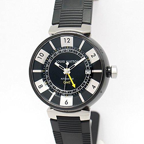[ルイヴィトン]LOUIS VUITTON 腕時計 タンブールインブラックGMT Q113K メンズ 中古 [並行輸入品] B07DBLZKTV