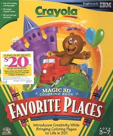 Crayola Magic 3 D Coloring Book Favorite Places