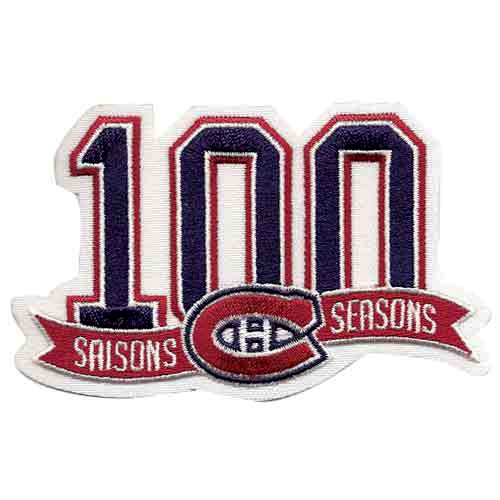 NHL Montreal Canadiens 100th Anniversary Collectible Logo Patch