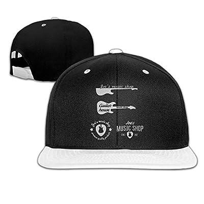 Rock Punk Trucker Hats Guitar House 1982.png Unisex Baseball Caps Hip-hop Snapback White