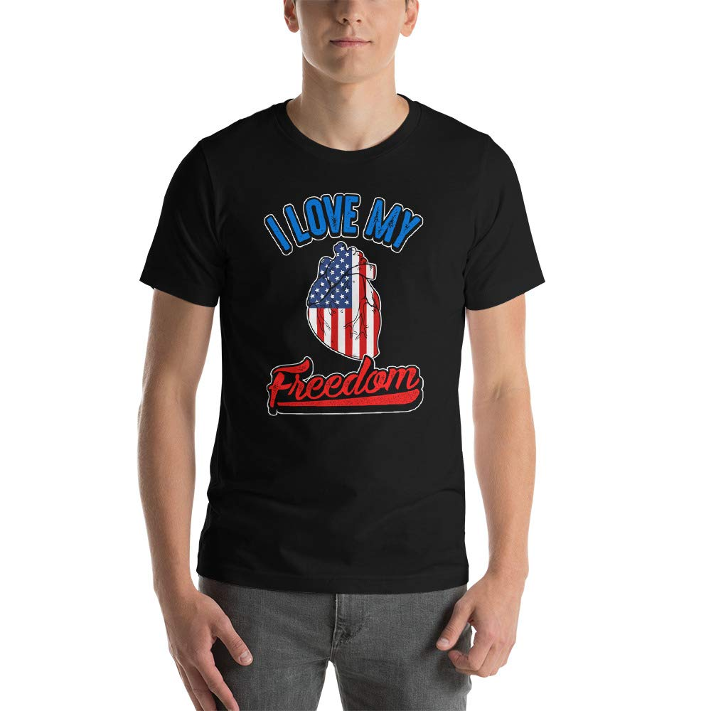 I Love My Freedom Short-Sleeve Unisex T-Shirt