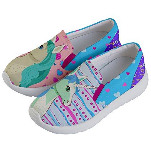 PattyCandy Girls Love Unicorn Prints Lightweight Slip On Shoes - US 2Y by PattyCandy (Image #1)