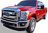 iBoard (Black Powder Coated 4 inches) Running Boards | Nerf Bars | Side Steps | Step Rails For 1999-2016 Ford F250 / F350 Super Duty Crew Cab