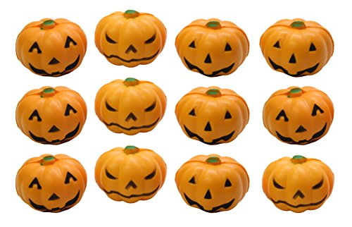 Curious Minds Busy Bags Bundle of 12 Jack-O-Lantern Pumpkin Party Favor Stress Balls, Pack of 12, Bulk Small Novelty Toy Prize Assortment for Birthday Halloween Party Gifts
