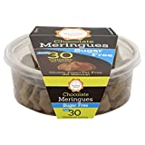 Krunchy Melts Sugar Fee Chocolate Meringues, 2-Ounce Tub (Pack of 12)