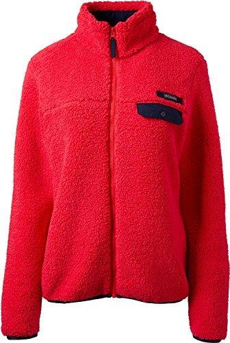 - Columbia Women's Mountain Side Heavyweight Fleece Jacket, (Rd Camellia/Collegiate Ny, S)