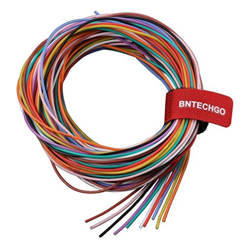 BNTECHGO 26 Gauge Silicone Wire Kit 10 Color Each 10 ft Flexible 26 AWG Stranded Tinned Copper Wire