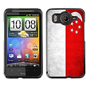 Shell-Star ( National Flag Series-Singapore ) Snap On Hard Protective Case For HTC Desire HD / Inspire 4G