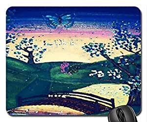 The land of love Mouse Pad, Mousepad (Fields Mouse Pad, Watercolor style)