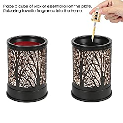 Foromans Wax Melts Candle Warmer Classic Black Met
