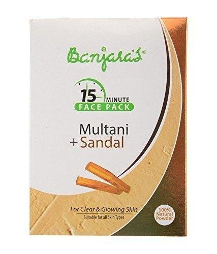 Banjara's Multani With Sandal (earth clay with sandalwood powder) combo face mask 100g